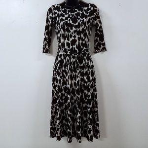 Leota Fit And Flare Stretch 3/4 Womens Dress Sz XS